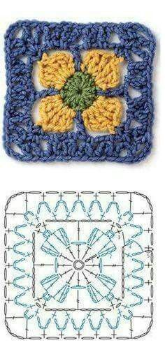 FREE Granny Square crochet pat