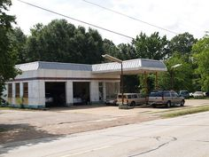 Lufkin Texas Old Small Town gas station Building