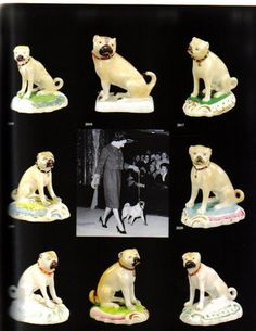 Porcelain pug figurines of the Duchess of Windsor