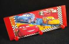 Disney Cars wooden clothes hanger by HandmadeByFiona on Etsy