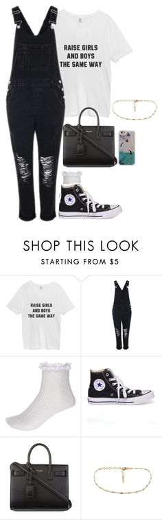 """""""arcade Hollywood """" by imimidoll ❤ liked on Polyvore featuring Topshop, River Island, Converse and Yves Saint Laurent"""