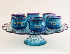 Passover Tableware - Victorian Seder Plate by ProCreations on Etsy (($)) https://www.etsy.com/listing/76993986/victorian-seder-plate