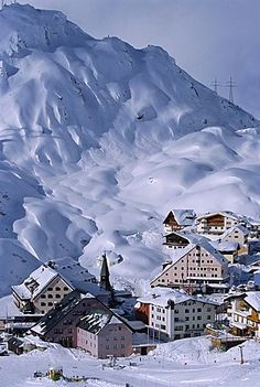 St Christoph in winter, Austria