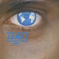 """Jean Michel Jarre Magnetic fields part 4  vinilo single 7"""" 45 rpm vynil single, Mercado de la Tía Ni, Sabarís, Baiona."""