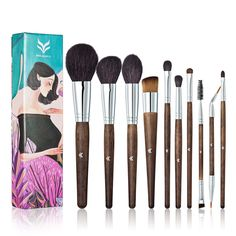 Brand Gift Set Professional Makeup Brushes Soft Goat Hair High Quality Foundation Concealer Eyeshadow Blush Beauty Makeup Brush #Affiliate