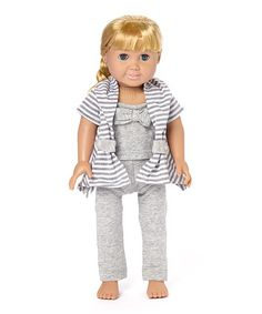 Loving this Gray & White Breezy Outfit for 18'' Doll on #zulily! #zulilyfinds