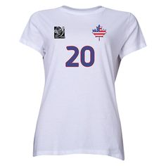 USA FIFA Women's World Cup Canada 2015(TM) Player Women's T-Shirt (White) Fifa 2015, Laws Of The Game, Fifa Women's World Cup, International Football, Canada, T Shirts For Women, Usa, Dress, Dresses