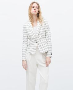 4 Fall Workwear Staples Your Wardrobe Can't Do Without Blazers, Zara United States, Jacket Buttons, Work Wardrobe, Zara Women, Chic, Blazer Jacket, Outerwear Jackets, Work Wear