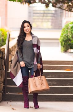 Rounding up the best budget-friendly suede over-the-knee boots that give you the look of Stuart Weitzman 'Highland' boots but for less! Fall Winter Outfits, Autumn Winter Fashion, Fall Fashion, Casual Chic, Highland Boots, Over The Knee Boot Outfit, Knee Boots, Burgundy Boots, Outfit Invierno