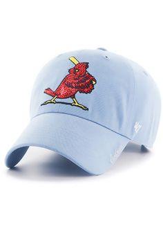 47 St Louis Cardinals Light Blue 1956 Sparkle Adjustable Hat St Louis  Cardinals Hat c4fc6236b