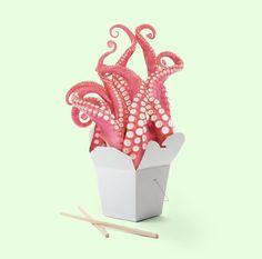 Kraken Food Box People in LA, put your hands up! Still Life Photography, Creative Photography, Art Photography, Wedding Art, Tentacle, Grafik Design, Surreal Art, Art Direction, Pop Art