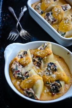 Stuffed shells with butternut squash