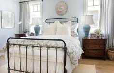 Cozy Coastal Beach House - Beach Style - Bedroom - Orange County - Bliss Home & Design Black Bedroom Furniture, Bed Furniture, Kitchen Furniture, Furniture Layout, Furniture Movers, Cheap Furniture, Furniture Removal, Furniture Companies, Furniture Stores