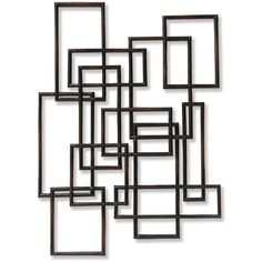 Palecek Rattan Geometric Decor ($657) ❤ liked on Polyvore featuring home, home decor, wall art, fillers, backgrounds, decor, frames, art, effects and borders