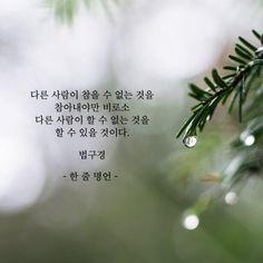 다른 사람이 할 수 없는 것을 하려면 Korean Writing, Korean Quotes, Great Words, Wise Quotes, Language, Mindfulness, Wisdom, Inspirational, Feelings