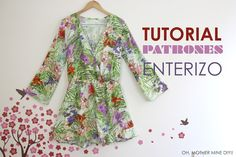 DIY Tutorial y patrones: MONO o ENTERIZO de pantalón corto y manga larga | Oh, Mother Mine DIY!! | Bloglovin'
