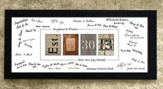 Personalized WEDDING GUEST BOOK - Unique Wedding Guest Book Alternative, Wedding Date Decoration, Framed Date Guestbook Sign In, $69.95
