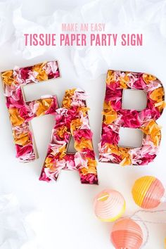 How to Make a Party Sign with Tissue Paper