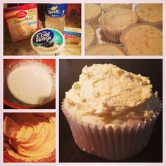 4 ingredient, 2 WW point cupcakes. Mix Funfetti cake mix with one can of Sprite Zero. (No, you don't use any other ingredients from the box! Just the cake powder!) Scoop about 1/3 into each cupcake liner. For frosting: Mix one container of Fat Free Cool Whip with the powder of a package of Fat/Sugar Free Instant Vanilla Pudding. Beat together. Frost cupcakes....Ta Da! Simple as that! 350 degrees for 15 minutes. Makes about 22.