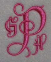Old English Embroidery Font. All sets are in satin stitch