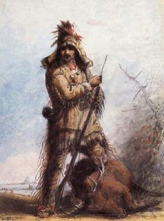 Alfred Jacob Miller paintings are one of the best sources for actual dress and equipment of the mountain man.