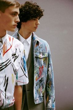 Backstage at Dior Homme SS15 - Art Strokes, Pen Marks, Expression - Consequently References the 'Je Suis Charlie' Incident & Social Issue - Trend Research