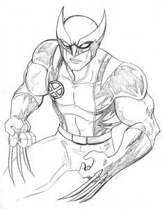 Desenhos Para Colorir Wolverine Para Colorir Criancas Para