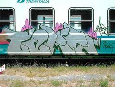 Very, very fast daily bombing. 2006. #train #bombing #graffiti #writing #milano