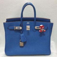 Blue Mykonos Birkin Bag