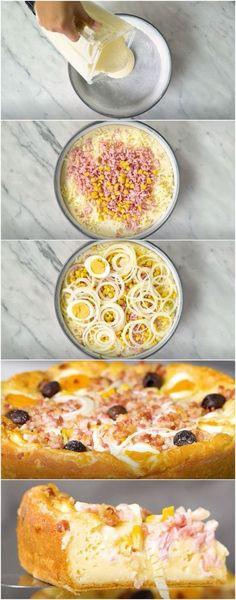 Torta de Pizza de Liquidificador, receitinha deliciosa! (veja a receita passo a passo) #torta #pizza #tortadepizza #tastemade