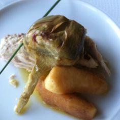 Palamita con carciofi e mele: fresco, semplice, ottimo, A Moncalvo, L'Ametista ristorante