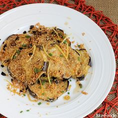 "Sesame Crusted Eggplant Recipe: Baba Ga""not"" - Mom Foodie Greek Eggplant Recipe, Eggplant Recipes, Vegetable Sides, Vegetable Side Dishes, Healthy Cooking, Healthy Eating, Appetizer Recipes, Dinner Recipes, Daniel Fast Recipes"
