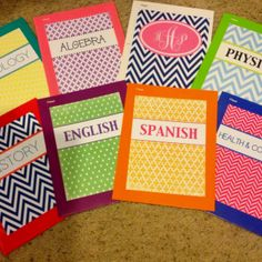 Cute designs for school supplies such as notebooks and binders! Too cute!