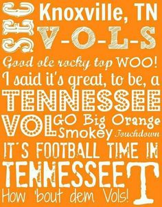 Tennessee Volunteers Football, Tennessee Football, Best Football Team, College Football, Tn Titans, Tn Vols, Tennessee Girls, Man Cave Gifts, University Of Tennessee
