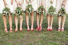 AH! Love love this bridal party shoes & bouquet shot