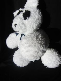 Teddy Bear Fluffiefriend Large by Violet's Silver Lining on Etsy, $15.00