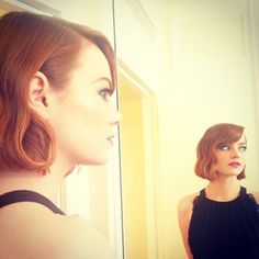 Emma Stone | 28 Celebrities Who Made 2014 The Year Of The Bob  can i do all of these bobs? plz and thnx