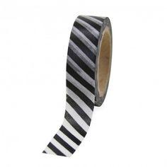 Washi Tape - Black Striped