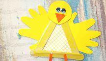 Handprint Popsicle Stick Baby Chick - Kid Craft
