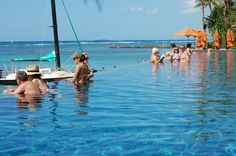 Pool at the Sheraton Waikiki beach.