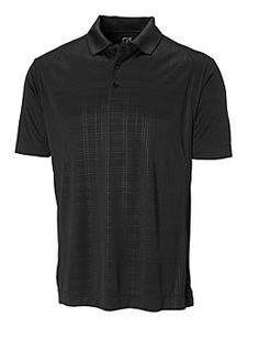 Men's CB DryTec™ Sullivan Embossed Polo. 100% Polyester.  Jersey. Self fabric collar. Self fabric inside back neck tape. Three-button placket. Back half moon. Seaming detail. Embossed front panel. Open Sleeve. Side vents. C pennant at back half moon. Moisture wicking. Colors: Black / Cardinal Red / Hunter  / Jasper / Navy Blue / Seaport / White. Sizes: S, M, L, XL, XXL, XXXL  $62.00 range