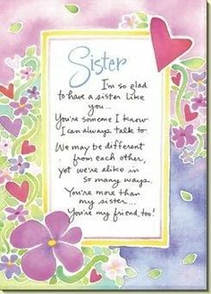 Printable Valentines Day card for sister  myfreeprintable