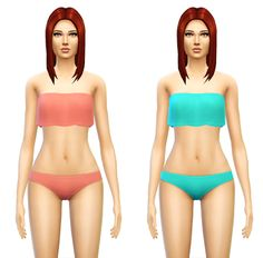 My Sims 4 Blog: Two Piece Swimsuit for Females by Sim4ny