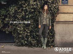 nouvelle campagne AIGLE  pour la saison Automne/Hiver 2014 imaginée par l'agence BETC