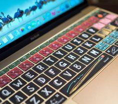 Macbook pro decal Macbook Keyboard Decal Black by MixedDecal