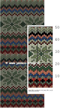 Intarsia Patterns, Fair Isle Knitting Patterns, Knitting Machine Patterns, Knitting Charts, Knitting Stitches, Knit Patterns, Stitch Patterns, Motif Fair Isle, Fair Isle Chart