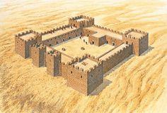 """""""Late Roman fort at Qasr Bshir (Jordan), c. AD 300""""   Brian Delf"""