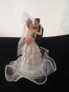 Wedding Cake Top/Topper Figurine--Bride and Groom