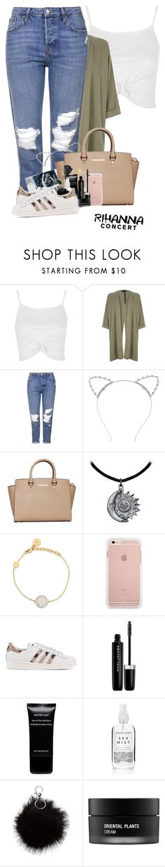 """""""RIHANNA concert #ANTI"""" by foziya-101 ❤ liked on Polyvore featuring Topshop, River Island, Lipsy, MICHAEL Michael Kors, Marc Jacobs, adidas Originals, Givenchy and Koh Gen Do"""