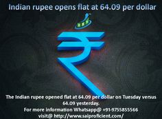 Indian rupee opens flat at 64.09 per dollar